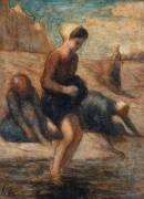 Au bord de l'eau (Daumier Honoré) - Muzeo.com