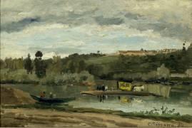 Bac à la Varenne Saint Hilaire (Pissarro Camille) - Muzeo.com