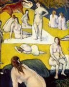 Baigneuses à la vache rouge (Bernard Emile) - Muzeo.com