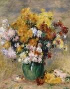 Bouquet de chrysanthèmes dans un vase (Auguste Renoir) - Muzeo.com