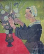 Bretonne au bouquet (Serusier Paul) - Muzeo.com