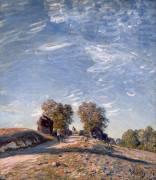 Chemin montant au soleil (Sisley Alfred) - Muzeo.com