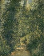 Chemin sous bois en été (Pissarro Camille) - Muzeo.com