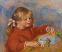 Claude Renoir jouant (Renoir Auguste) - Muzeo.com