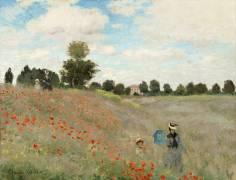 Poppy Field at Argenteuil (Claude Monet) - Muzeo.com