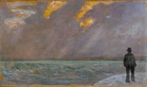 Coucher de soleil sur la mer (Fattori Giovanni) - Muzeo.com