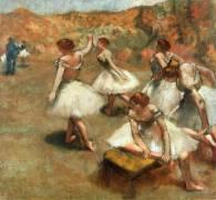 Danseuses sur la scène (Degas Edgar) - Muzeo.com
