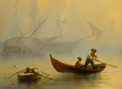 Détail de Marine, effet de brouillard (Barry François Bernard) - Muzeo.com