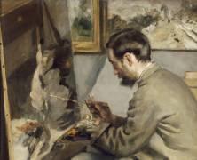 Détail du Portrait de Frédéric Bazille (Renoir Auguste) - Muzeo.com