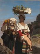 Deux paysannes italiennes et un enfant (Gerôme Jean Léon) - Muzeo.com