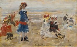 Enfants à la plage (Boudin Louis-Eugène) - Muzeo.com