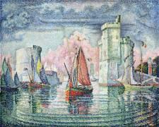 Entrée du port de la Rochelle (Signac Paul) - Muzeo.com