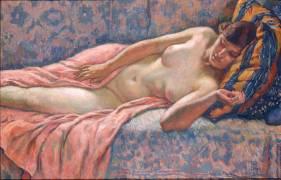 Etude de femme nue ou Femme nue couchée (Theo van Rysselberghe) - Muzeo.com