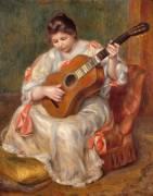 Femme jouant de la guitare (Renoir Auguste) - Muzeo.com