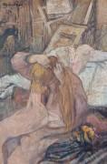 Femme se coiffant (Toulouse-Lautrec Henri de) - Muzeo.com