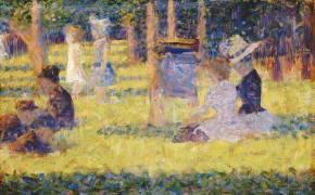 Femmes assises et voiture d'enfant (Seurat Georges) - Muzeo.com
