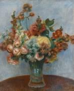 Fleurs dans un vase (Renoir Auguste) - Muzeo.com