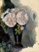 Fleurs dans un vase bleu (Paul Cézanne) - Muzeo.com