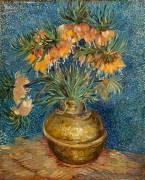 Crown imperial fritillaries in a copper vessel (Vincent Van Gogh) - Muzeo.com