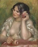 Gabrielle à la rose (Renoir Auguste) - Muzeo.com