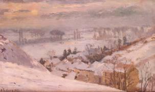 Herblay sous la neige (Lebourg Albert) - Muzeo.com