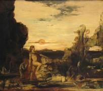 Hercule et l'Hydre de Lerne (Gustave Moreau) - Muzeo.com