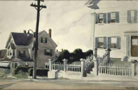 House with Fence (Hopper Edward) - Muzeo.com
