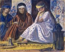 Intérieur arabe ; Harem (Bernard Emile) - Muzeo.com