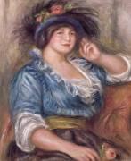 Jeune femme à la rose, femme en bleue (Renoir Auguste) - Muzeo.com