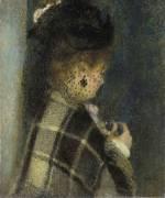 Jeune femme à la voilette (Renoir Auguste) - Muzeo.com