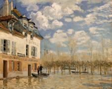 La barque pendant l'inondation, Port Marly (Sisley Alfred) - Muzeo.com