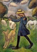 La bergère. Marie Ressort enfant (Roger de La Fresnaye) - Muzeo.com