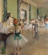 La classe de danse (Degas Edgar) - Muzeo.com