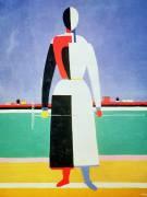 La femme au râteau (Malevitch Kazimir) - Muzeo.com