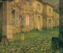 La maison aux roses au crépuscule (Le Sidaner Henri) - Muzeo.com