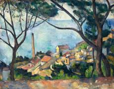 La mer à l'Estaque (Paul Cézanne) - Muzeo.com