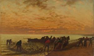 La Pêche au filet ou la pêche des daurades (Belly Léon Adolphe Auguste) - Muzeo.com