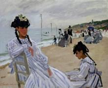 The beach at Trouville (Claude Monet) - Muzeo.com