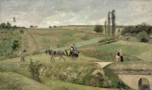 La Route d'Ennery, près de Pontoise (Pissarro Camille) - Muzeo.com