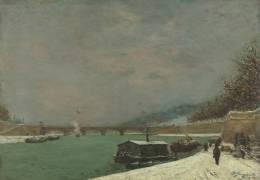 La Seine au pont d'Iéna. Temps de neige (Gauguin Paul) - Muzeo.com