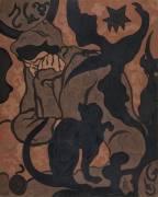 La Sorcière et le Chat (Paul-Elie Ranson) - Muzeo.com