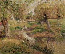 L'Abreuvoir, Eragny (Pissarro Camille) - Muzeo.com