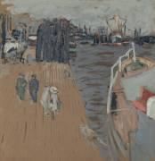 Le cargo à quai, Hambourg (Vuillard Edouard) - Muzeo.com