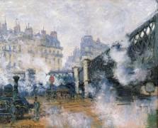 Pont de l'Europe, Gare Saint-lazare (Monet Claude) - Muzeo.com