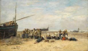 Les berckoises (Boudin Louis-Eugène) - Muzeo.com