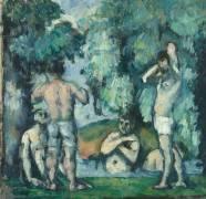 Les cinq baigneurs (Cézanne Paul) - Muzeo.com