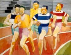 The runners (Delaunay Robert) - Muzeo.com
