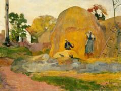 Les meules jaunes ou La moisson blonde (Paul Gauguin) - Muzeo.com