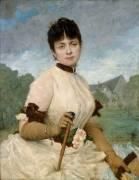 Madame Toulmouche, femme du peintre (Delaunay Jules Elie) - Muzeo.com