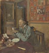 Madame Vuillard tenant un bol (Edouard Vuillard) - Muzeo.com